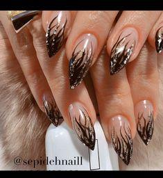 56 gorgeous nail art designs 2019 2 - Hand Nail Design FoR Women Nail Tip Designs, Creative Nail Designs, Creative Nails, Acrylic Nail Designs, Art Designs, Beautiful Nail Art, Pretty Nail Art, Gorgeous Nails, Fancy Nails