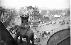Long Gone, Vintage London, South London, Britain, Elephant, Mid Century, England, Swings, Painting