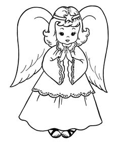 Christmas Angel - Coloring Pages for Kids and for Adults
