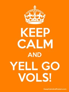 Keep Calm and YELL GO VOLS! Poster