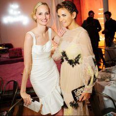 Lauren Santo Domingo wearing Peter Som with Laure Hériard Dubreuil