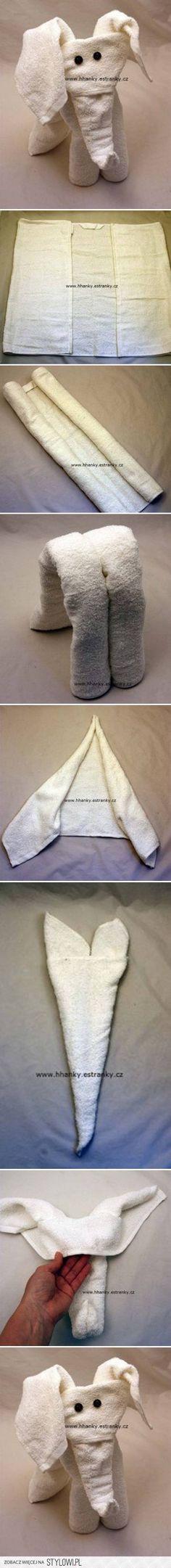 DIY Łatwe Ręcznik Projekty DIY Elephant | UsefulDIY.com na Stylowi.pl