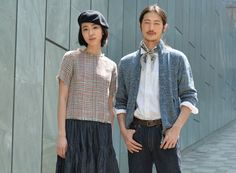 45r01 plaid top frayed edges and man cardigan