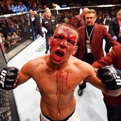 Nate Diaz upsets Conor McGregor via rear naked choke in the second round of their highly anticipated match-up #ufc196 #McGregorDiaz