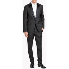 DSQUARED2 London Tux Suit ($2,002) ❤ liked on Polyvore featuring men's fashion, men's clothing, men's suits, men, black, mens tuxedos, mens dinner suits, mens apparel, mens suits and mens tuxedo suits