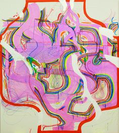 Joanne Greenbaum Untitled, 2014 Oil, ink, marker and acrylic on canvas, 90 x 80 in. Museum Of Contemporary Art, Contemporary Paintings, Posca Art, Image Film, Art Sketchbook, Aesthetic Art, Collage Art, Art Inspo, Painting & Drawing