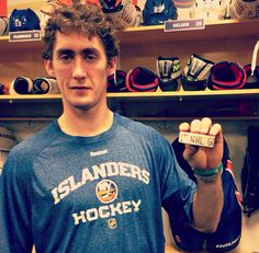 Brock Nelson's first NHL goal 10/22/13!!!