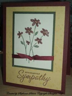 Saffron Sympathy using Stampin Up Close as a Memory