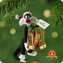 2001 Looney Tunes-Sylvester's Bang Up Gift  Hallmark Ornament at Ornament Mall