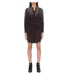 ALLSAINTS Animal-Print Silk Shirt Dress. #allsaints #cloth #dresses