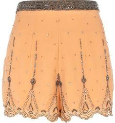 River Island Orange Embellished Shorts
