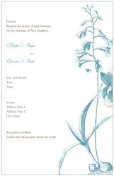 Wedding Invitations Invitations & Announcements blue flower