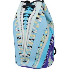 Emilio Pucci Rucksacks & Bumbags (660 CAD) ❤ liked on Polyvore featuring bags, handbags, sky blue, backpack purse, blue handbags, knapsack bags, blue purse and emilio pucci bags