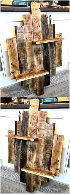 Use Pallet Wood Projects to Create Unique Home Decor Items Wooden Pallet Projects, Wooden Pallet Furniture, Pallet Crafts, Pallet Art, Wooden Pallets, Wood Crafts, Diy Furniture, Diy Projects, Pallet Ideas