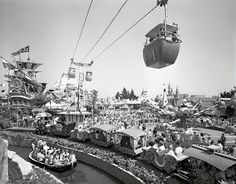 Disneyland Fantasyland photo in the 60's...wish they still had the tram across the sky