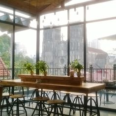 St. Jospehs Cathedral, Hanoi Vietnam #coffee #coffeehouse #hanoi #oldcity #scandi #interiors #vietnam Hanoi Vietnam, Coffeehouse, Old City, Cathedral, Interiors, Coffee Shops, Coffee, Old Town, Coffee Cafe
