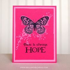 Visible Image stamps - There Is Always Hope - Inky Butterfly - Amber Kroening