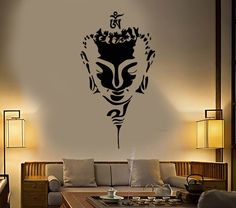 We make our wall decals using superior quality interior and exterior glossy, removable vinyl film made in USA (Matte available for Black ONLY). Buddha Wall Art, Buddha Painting, Buddha Head, Creative Wall Painting, Wall Painting Decor, Graffiti, Little Buddha, Wall Drawing, Vinyl Wall Stickers