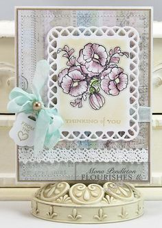 I made this card using Melissa Frances patterned paper and Flourishes stamps.