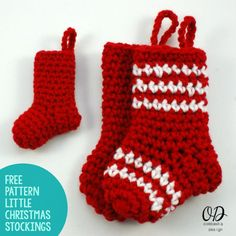 Made in different colours these little Socks could be used all year round. oombawkadesigncrochet.com