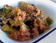 zucchini and black bean rice.