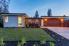 Contemporary Exterior of Home with Pathway, Fence, exterior stone floors