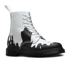 a13de0f908d8 Martens Paint Splat Pascal Boot - White Black Paint Splat Softy T Leather  Boots