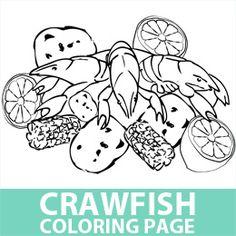 Crawfish Coloring Page