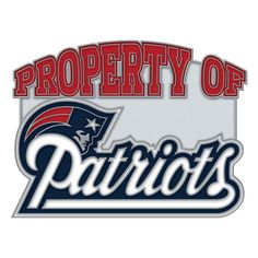 New England Patriots Property Of Cloisonne Pin - Sunset Key Chains