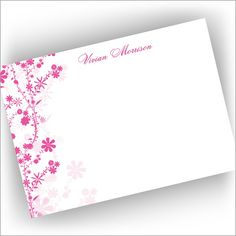 Pink Jasmine Cards from American Stationery