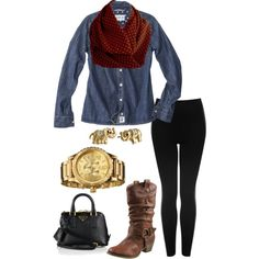 A fashion look from July 2014 featuring pocket shirts, fake leather pants and brown mid calf boots. Browse and shop related looks. Infinity Scarf Outfits, Rust, Fashion Inspiration, Teacher, Shoe Bag, Casual, Polyvore, Collection, Shopping