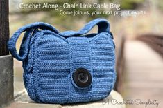 Come join us for the Chain Link Cable Bag Crochet Along in June 2018