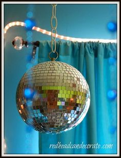Have you ever spun a disco ball in the dark and had your little ones shine a flash light on it? It helps them get sleepy! - @Julie Urtel-Fiato
