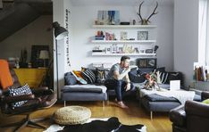Multifunctional footstools, chairs and sofas can be easily rearranged