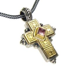Gerochristo Crosses Sterling Silver and Gold Made in Greece Greek Jewelry, Gold Jewelry, Jewellery, Historia Universal, Byzantine, Necklaces, Bracelets, Crosses, Greece