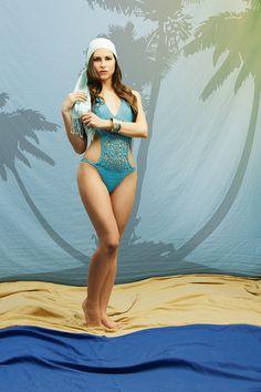 Turquoise crochet swimsuit, bathing suit, honeymoon sweet monokini, crochet one piece swimsuit, sexy bikini, beautiful swimwear. on Etsy, $94.03