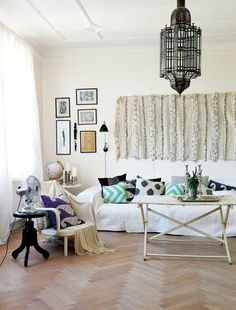 eclectic boho living space