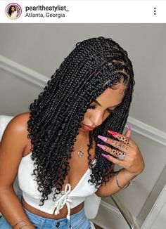 Twist Braid Hairstyles, Braided Hairstyles For Black Women, Baddie Hairstyles, African Braids Hairstyles, Weave Hairstyles, Protective Hairstyles, Hairstyle Short, School Hairstyles, Twist Braids