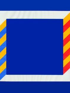Winfred-Gaul-Blaues-Quadrat-1970-handsigniert