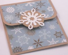 Christmas Gift Card Holder - Snowflake