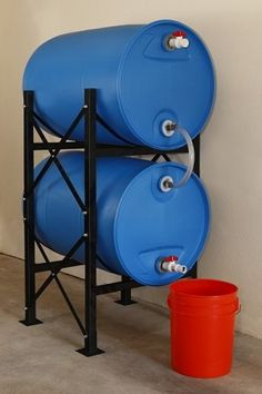 I like the stand for these. Hydrant Storage System - Long Term Water Storage Containers from Titan Ready Water Survival Prepping, Emergency Preparedness, Survival Skills, Hurricane Preparedness, Emergency Supplies, Survival Shelter, Homestead Survival, Water Storage Containers, Food Storage