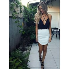 White skirts and black top | Raddest Men's Fashion Looks On The Internet: www.raddestlooks.org