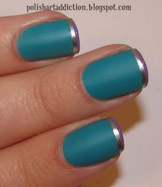 pretty...where do you get matte polish? Is it just me that can't seem to find it? A clear matte topcoat perhaps?