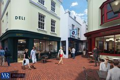Hannington's Lane: Proposed regeneration of existing service yard in the heart of Brighton's Lanes