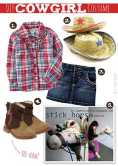 7 year old creates cowgirl costume kids craft pinterest diy cowgirl costume solutioingenieria Choice Image