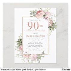 90th Birthday Invitations, 90th Birthday Parties, Birthday Celebration, Mom Birthday, 90 Birthday Party Ideas, 80th Birthday Party Decorations, Birthday Stuff, 75th Birthday, Summer Birthday