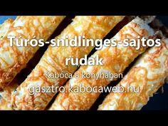 Túrós-snidlinges-sajtos rudak recept videó - Kabóca a konyhában - YouTube Snack Recipes, Snacks, Chips, Bread, Youtube, Food, Snack Mix Recipes, Appetizer Recipes, Appetizers