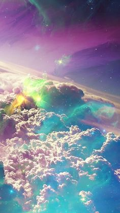 Wallpaper Android - Cotton candy clouds up in the sky - what a delightful, dazzling nature photo Tumblr Wallpaper, Nature Wallpaper, Cool Wallpaper, Wallpaper Backgrounds, Wallpaper Desktop, Trendy Wallpaper, Beautiful Wallpaper, Wallpaper Quotes, Wallpaper Space