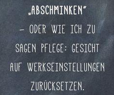 #abschminken