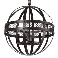 """View the Park Harbor PHPL5194 20"""" Wide 4 Light Chandelier with Globe Cage Frame at LightingDirect.com."""